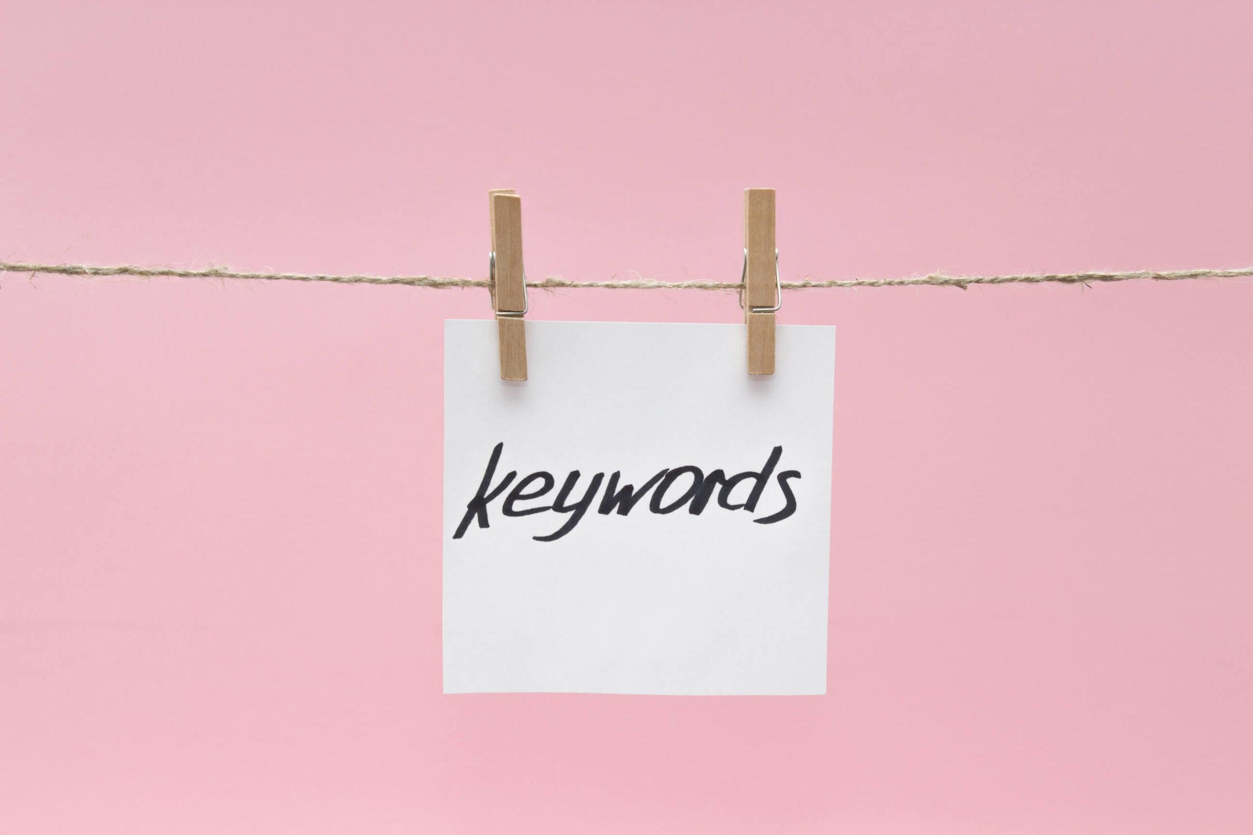 Que son las palabras clave o keywords